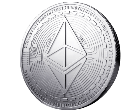 Ethereum coin standing